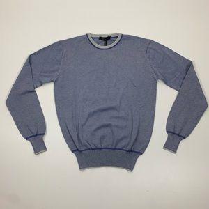 Calvin Klein Collection Blue Crew Neck Sweater